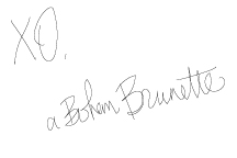 Signature reading: a Bohem Brunette